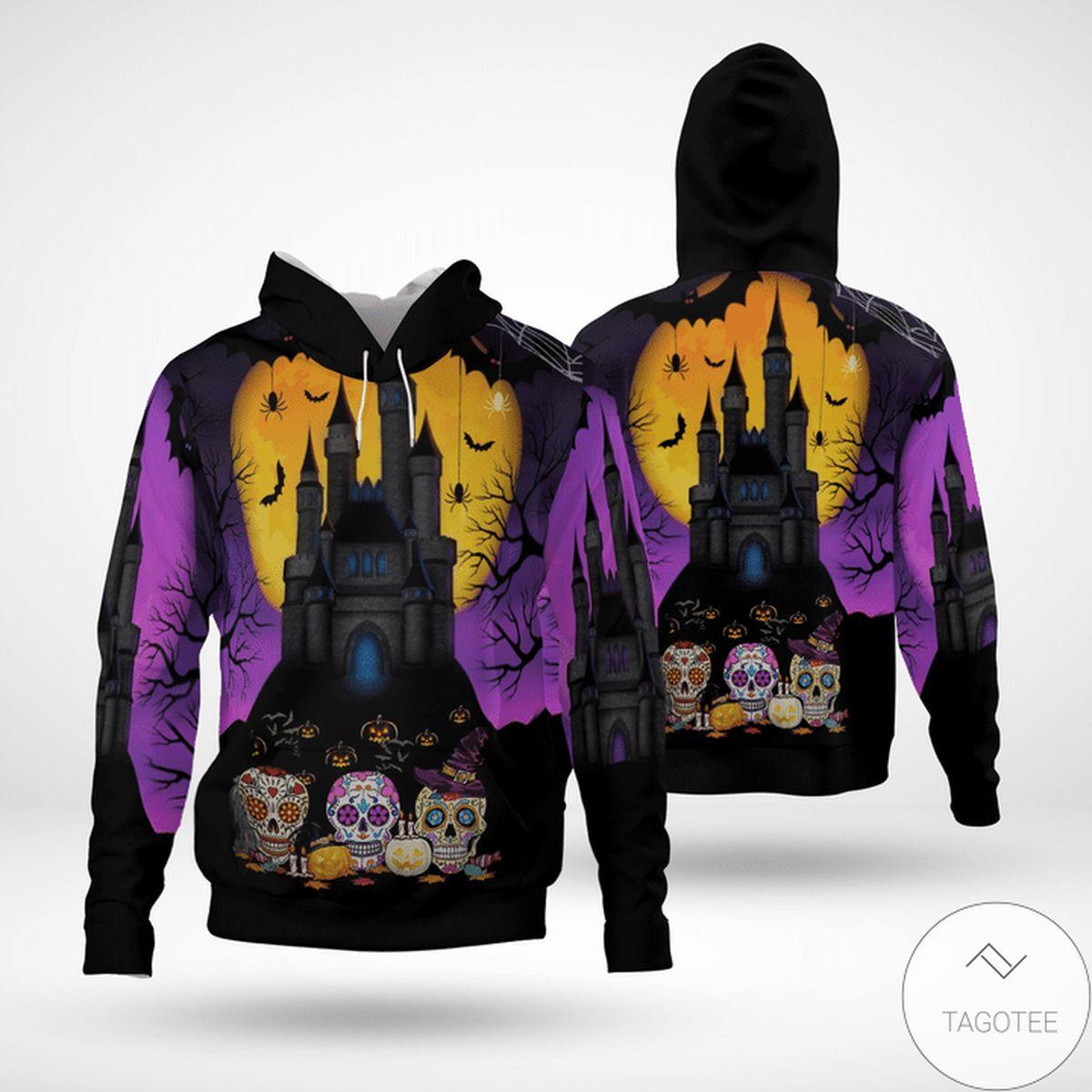 POD Halloween Sugar Skull 3d Hoodie