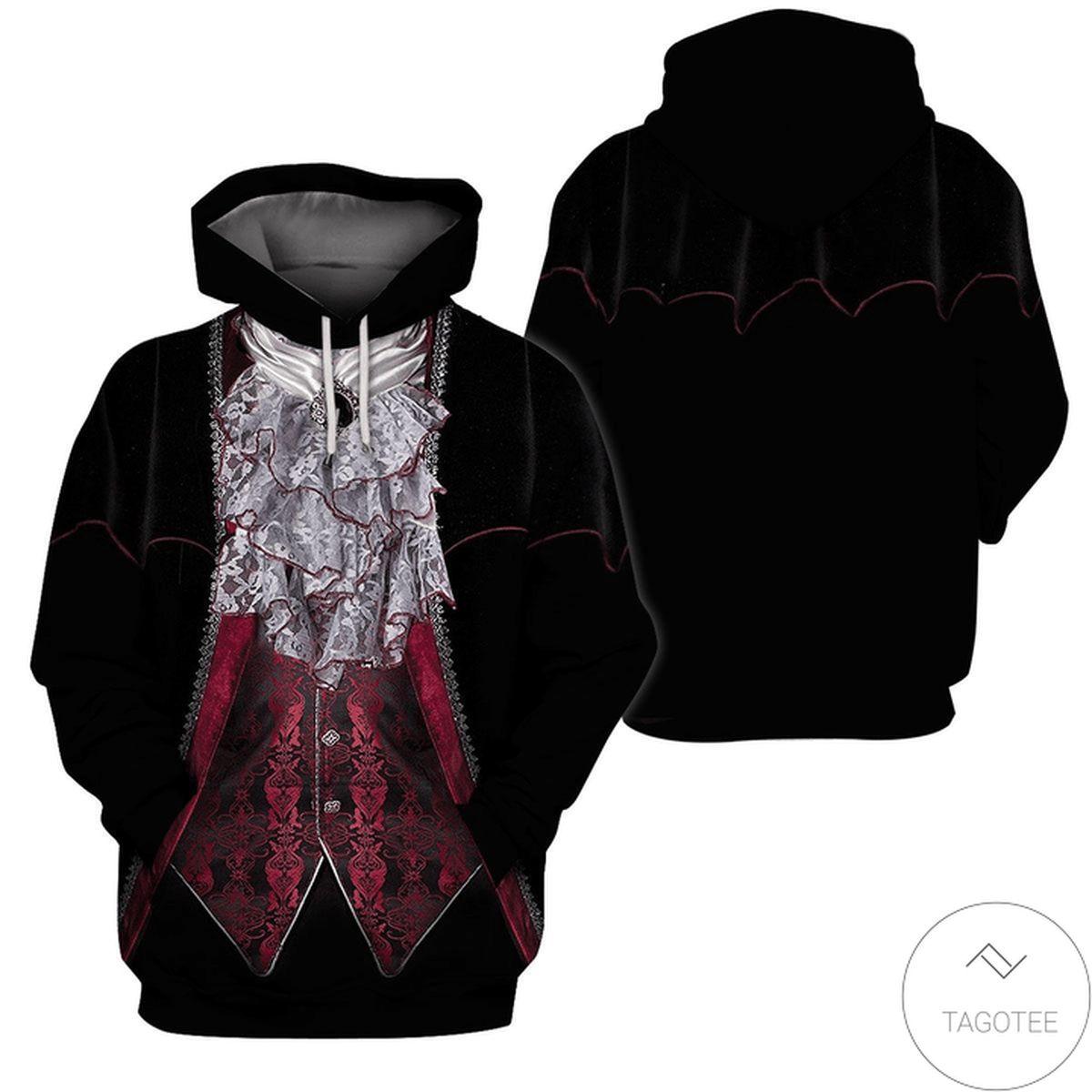 Hot Deal Halloween Vampire Costume 3d Hoodie
