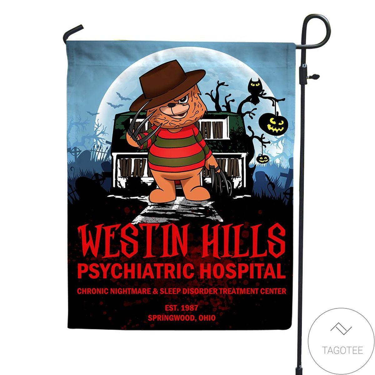 Halloween Westin Hills Psychiatric Hospital Flag