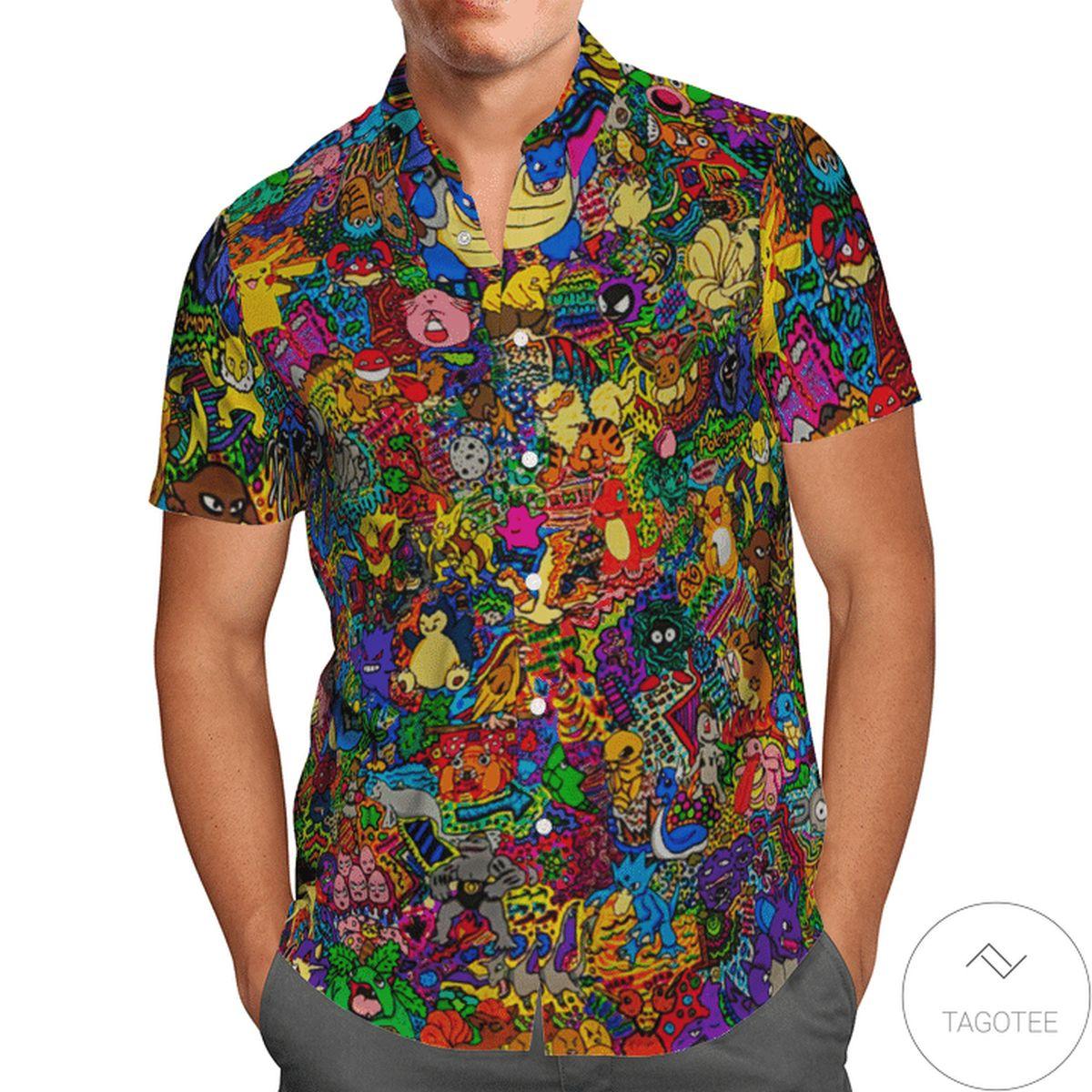 Top Happy Pokemon Hawaiian Shirt