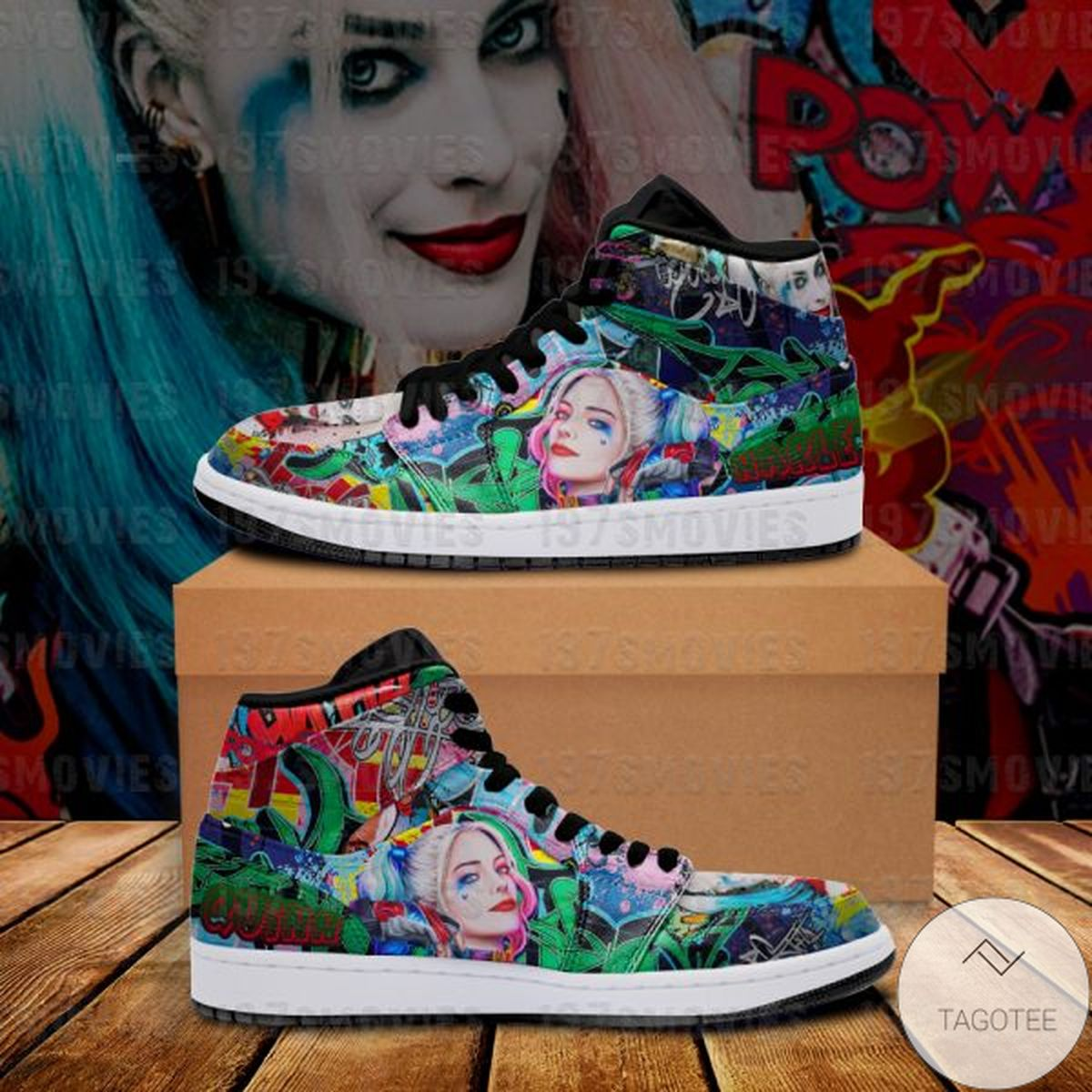 Excellent Harley Quinn Sneaker Air Jordan High Top Shoes