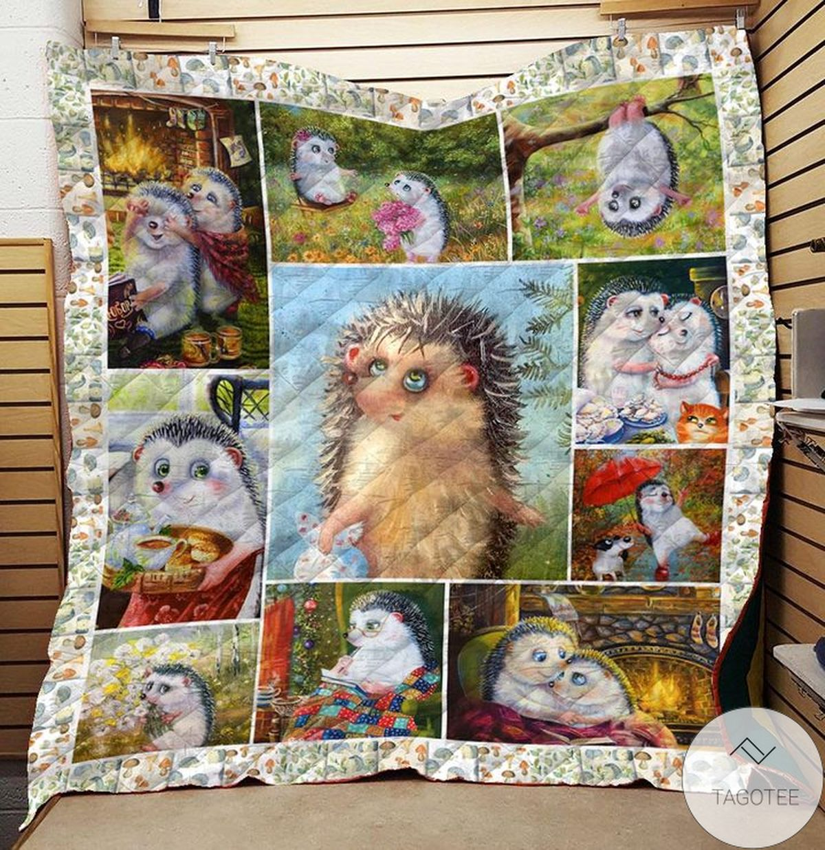 Mother's Day Gift Hedgehog Quilt