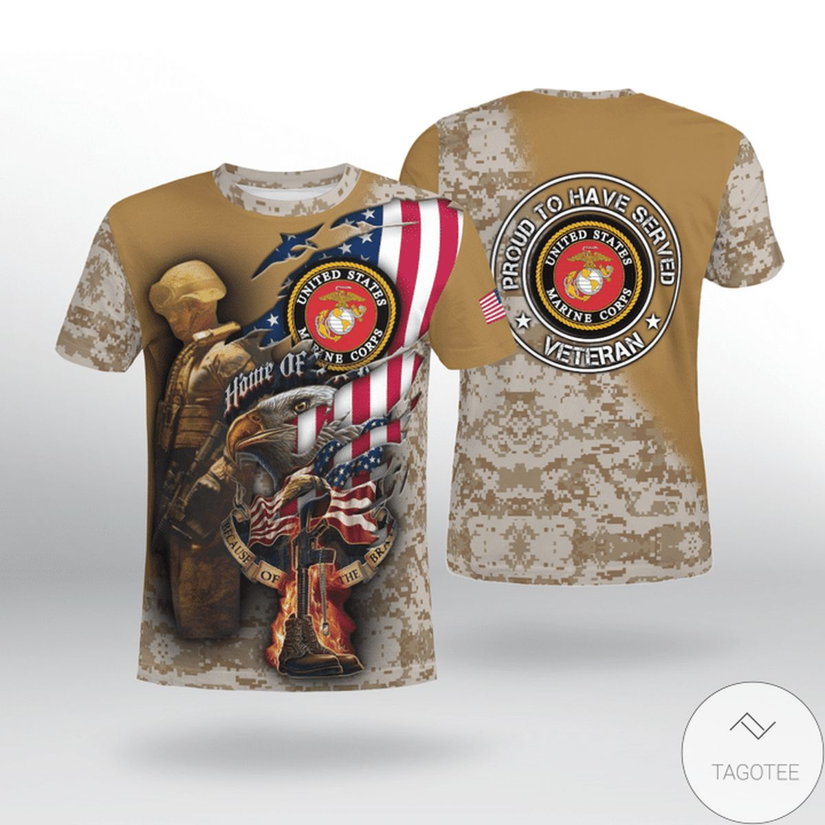 Home Of Us Marine Corps Veteran Proud To Have Served Shirt