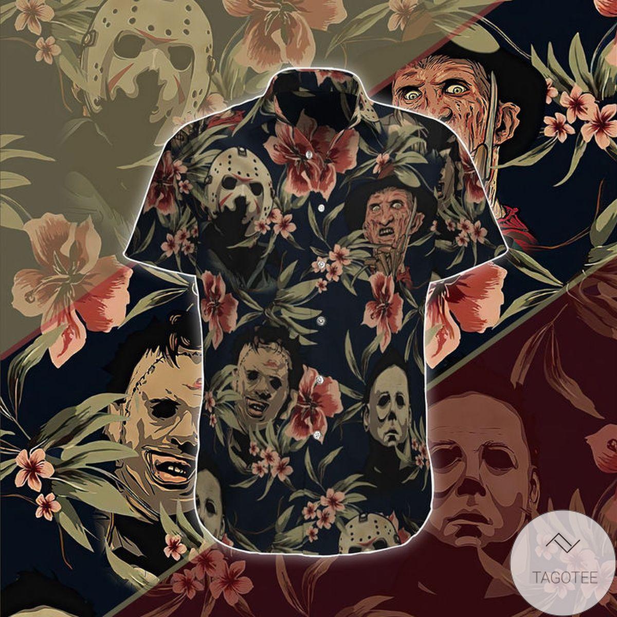 Horror Movies Killer Face Halloween Hawaiian Shirt