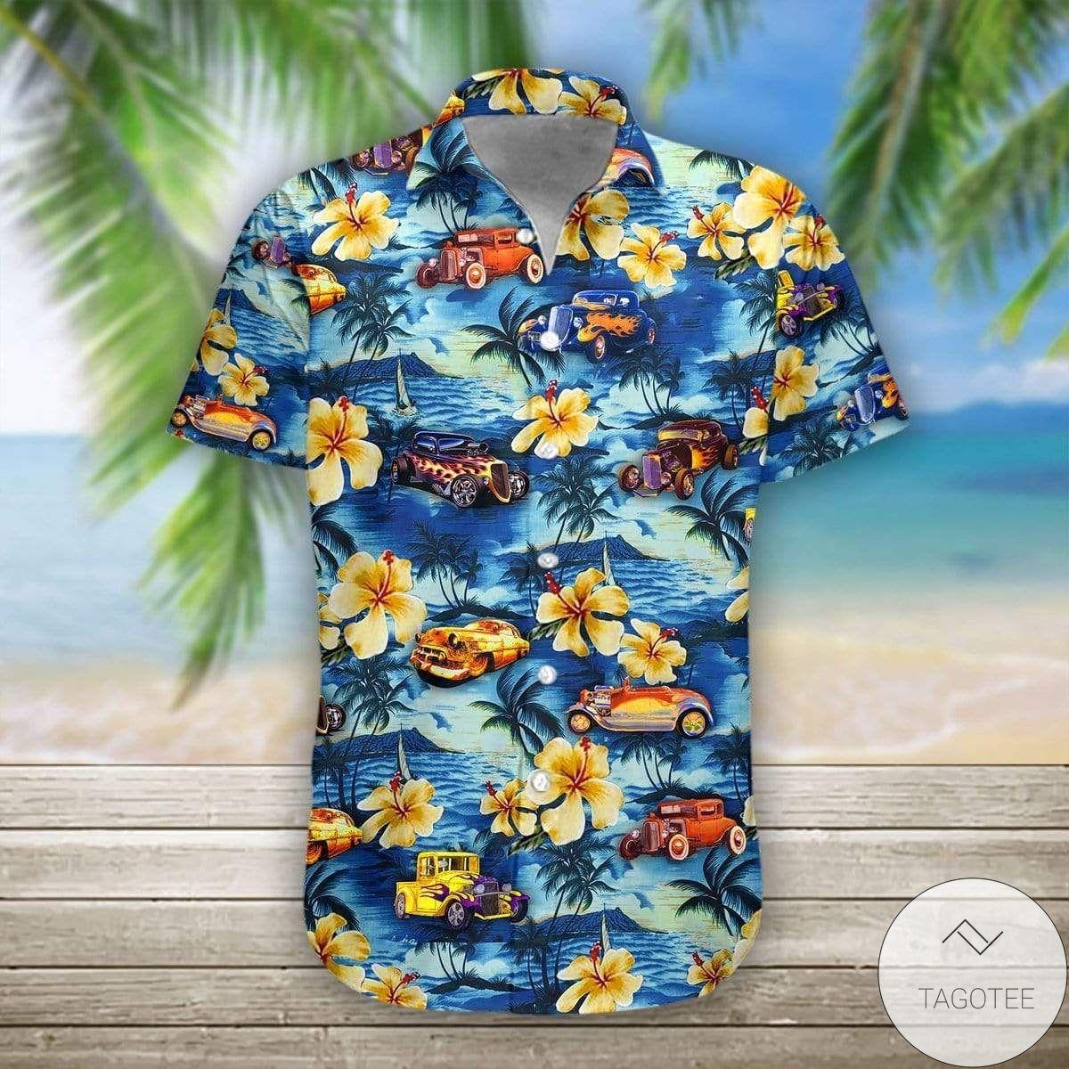 Buy In US Hot Rod Tropical Hawaiian Shirt