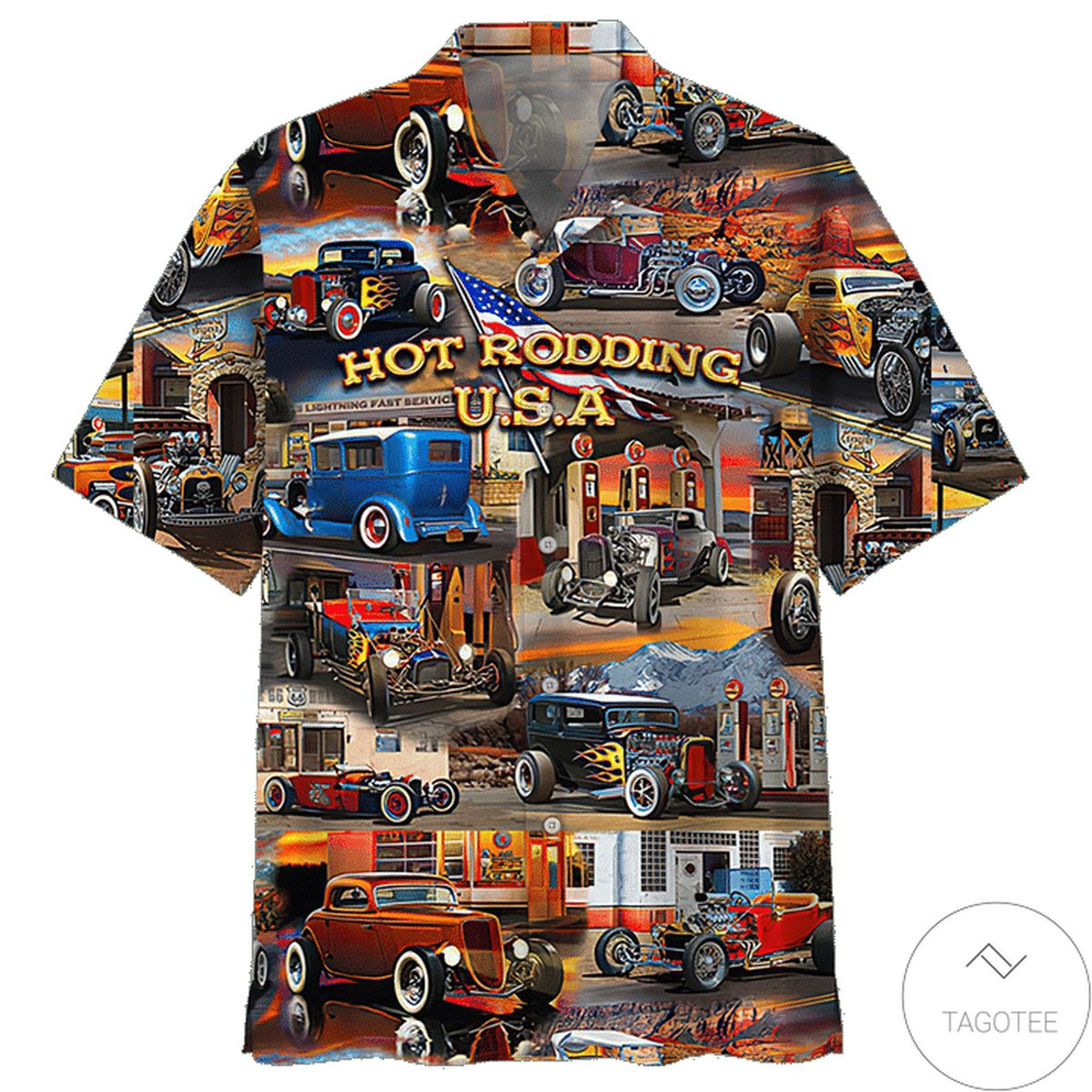 Limited Edition Hot Rodding Usa Hawaiian Shirt