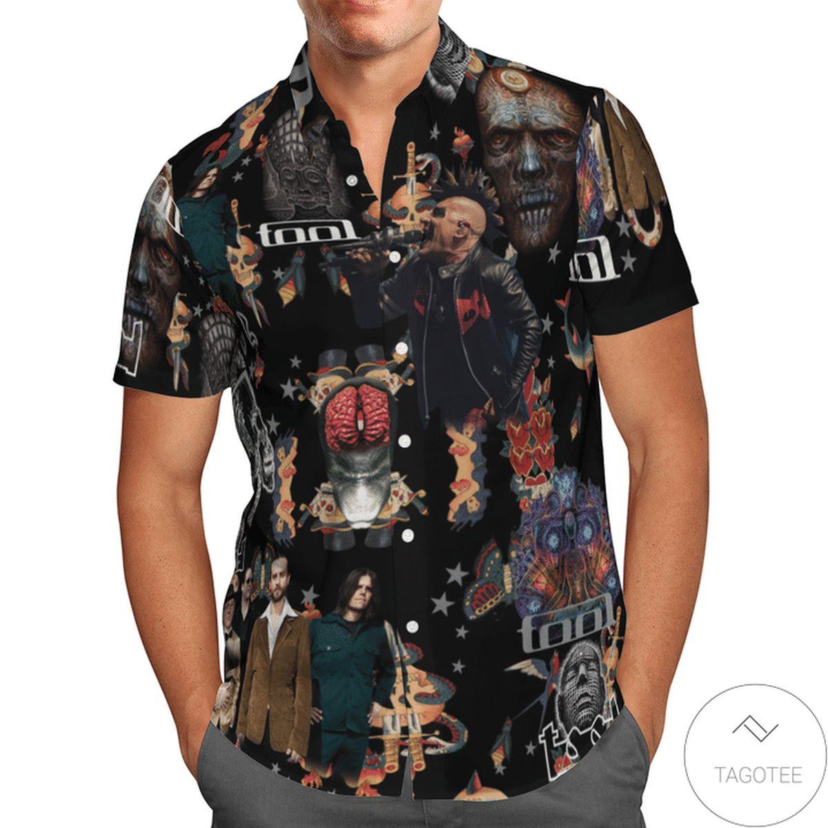 Hot Tool Band Nv Vintage Hawaiian Shirt