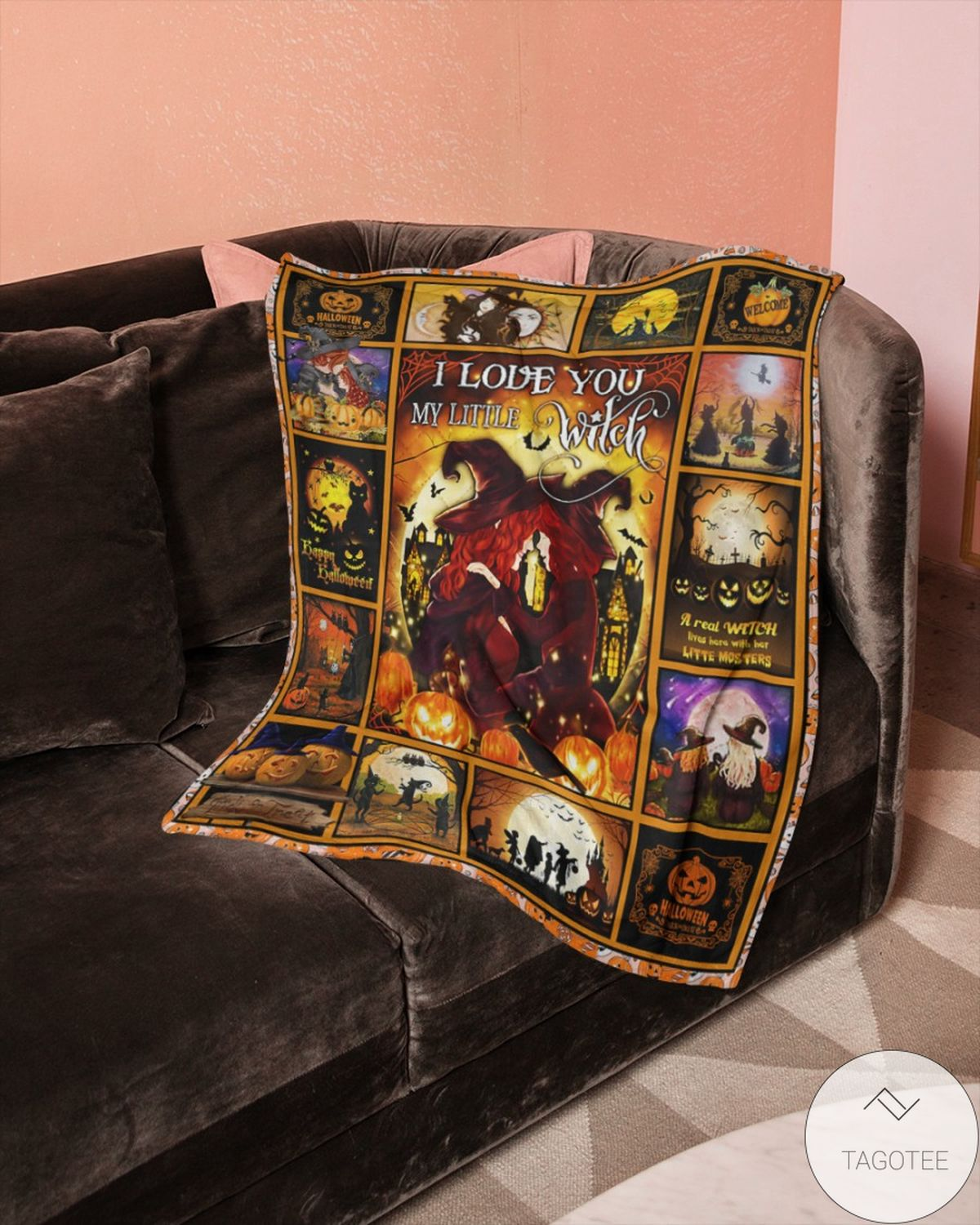 Only For Fan I Love You My Little Witch Halloween Blanket