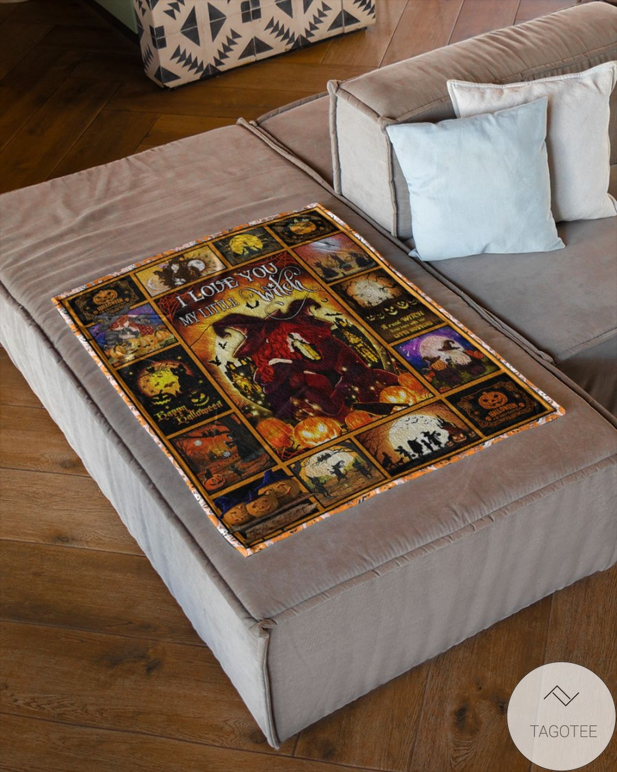 Perfect I Love You My Little Witch Halloween Blanket