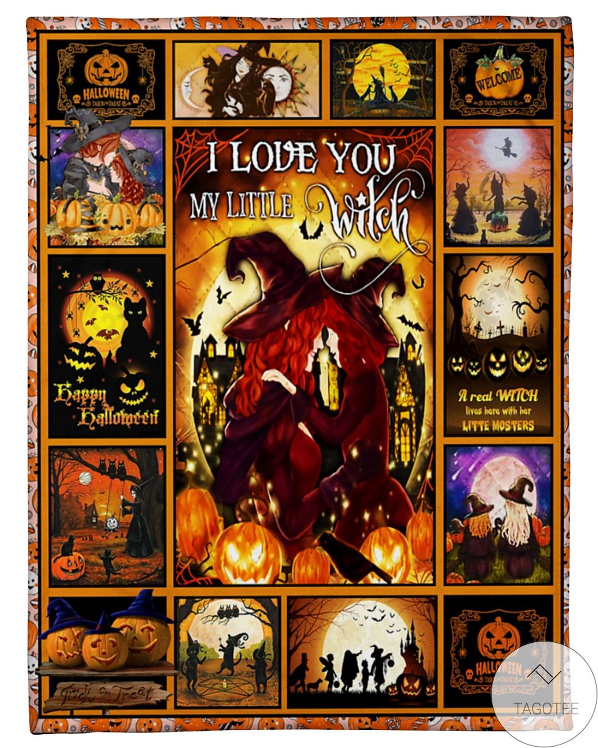 Drop Shipping I Love You My Little Witch Halloween Blanket