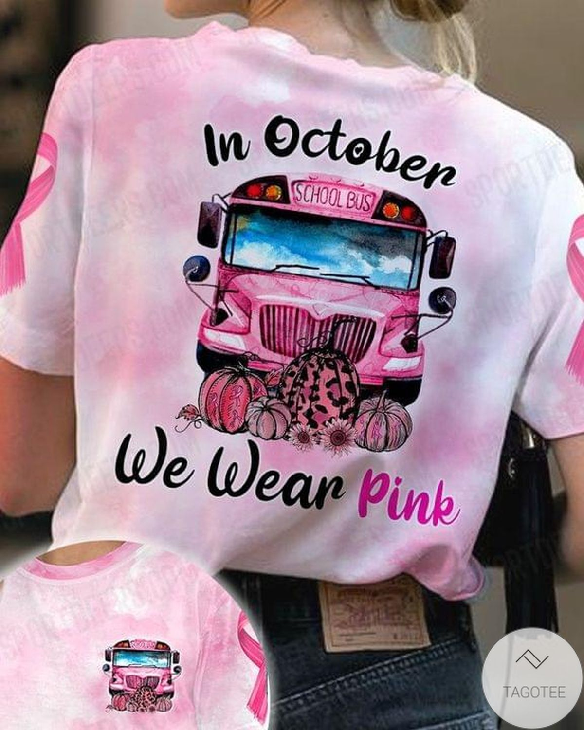 Absolutely Love In October We Wear Pink Jeep T-Shirt