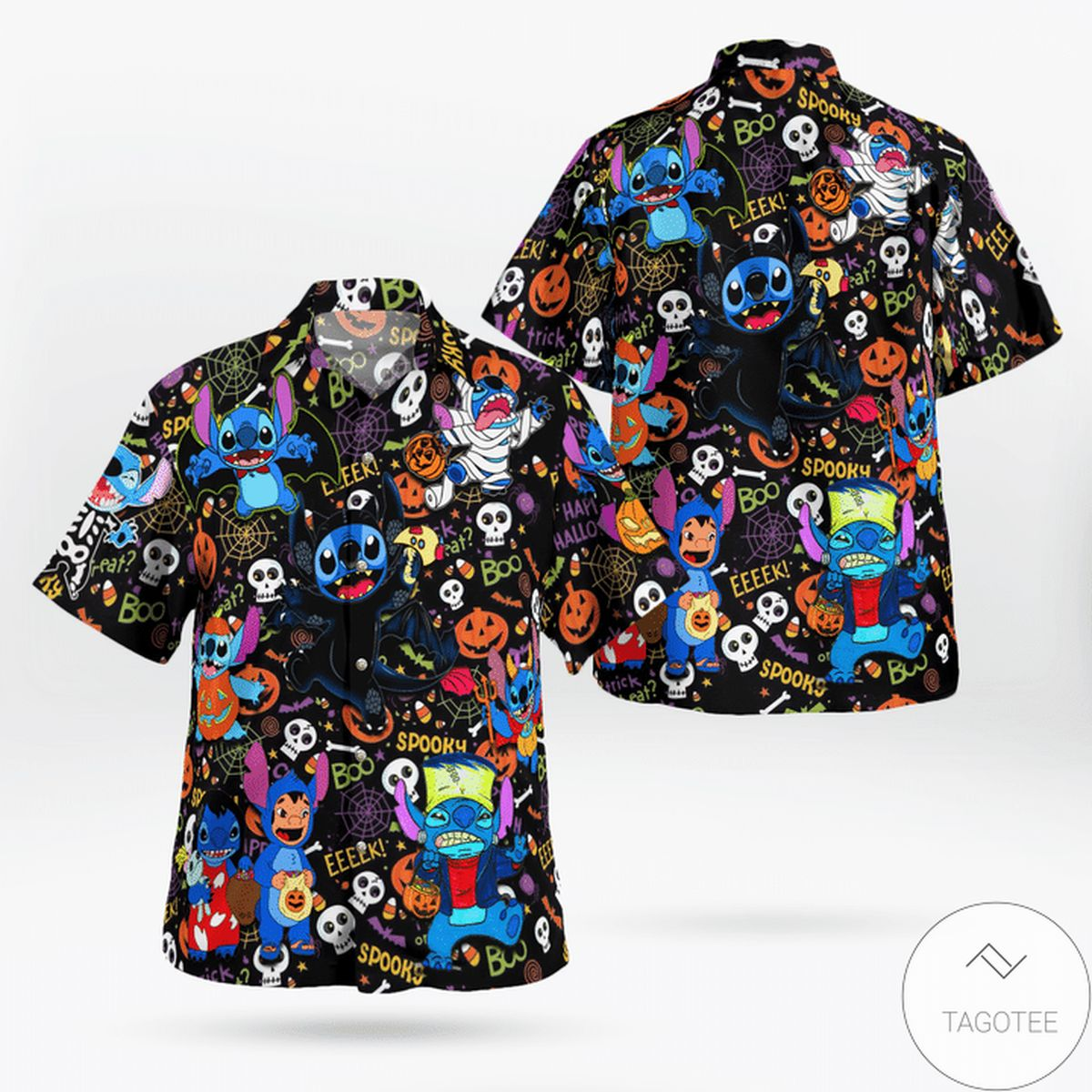 It's Time For Trick Or Treat Stitch Hawaiian Shirt