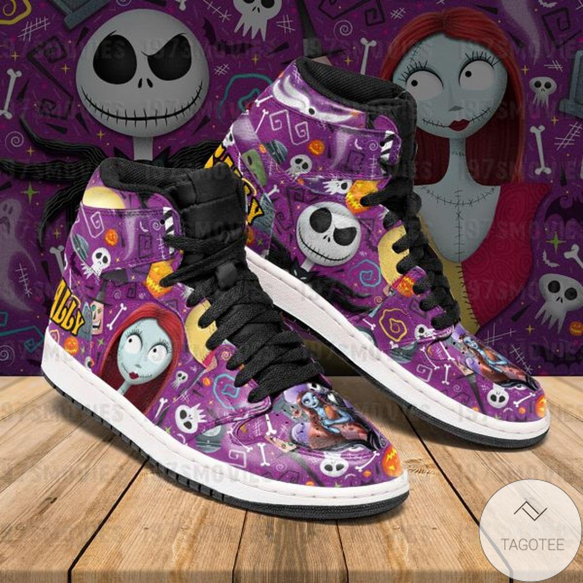 Jack Skellington Sally The Nightmare Before Christmas Sneaker Air Jordan High Top Shoes
