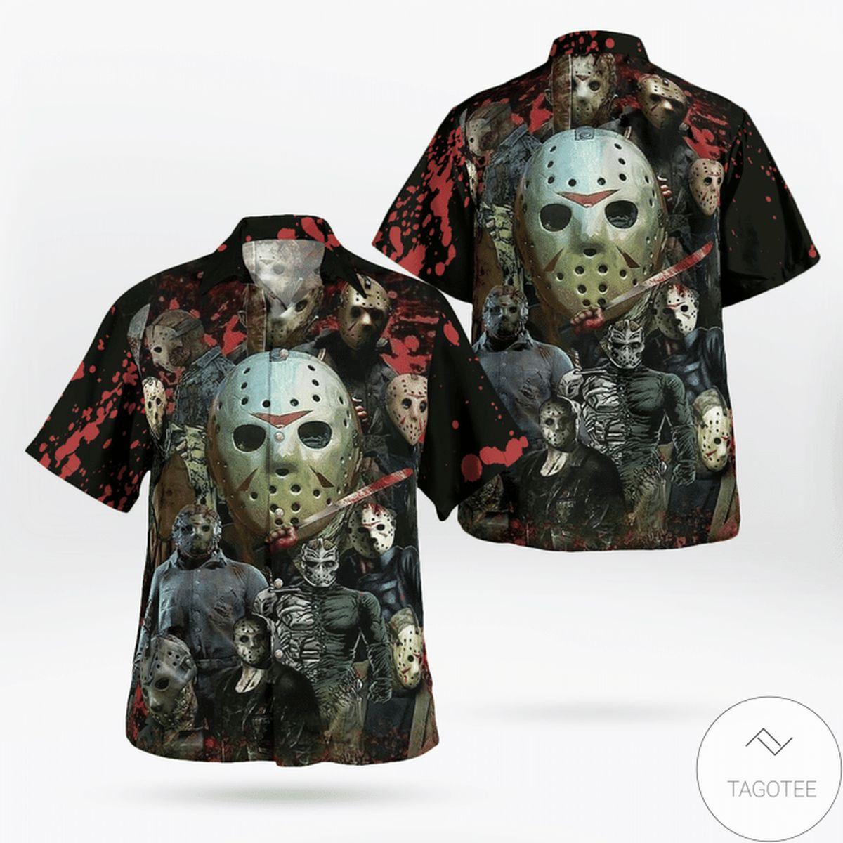 Jason Voorhees Face Mask Custom Hawaiian Shirt