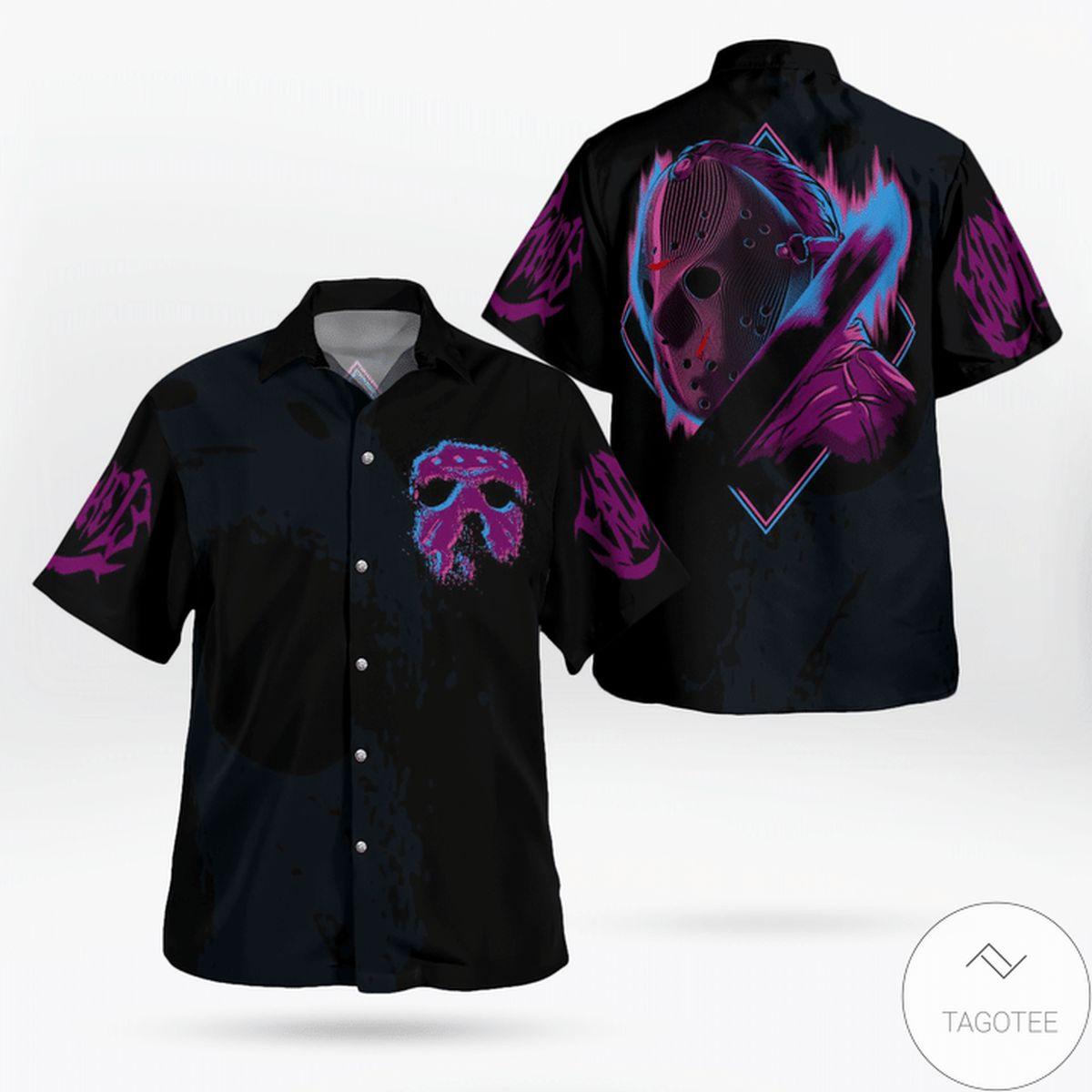 Jason Voorhees Halloween Aloha Hawaiian Shirt
