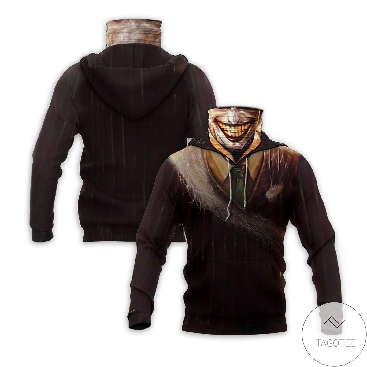 Limited Edition Jocker Creepy Smile Halloween Mask Hoodie