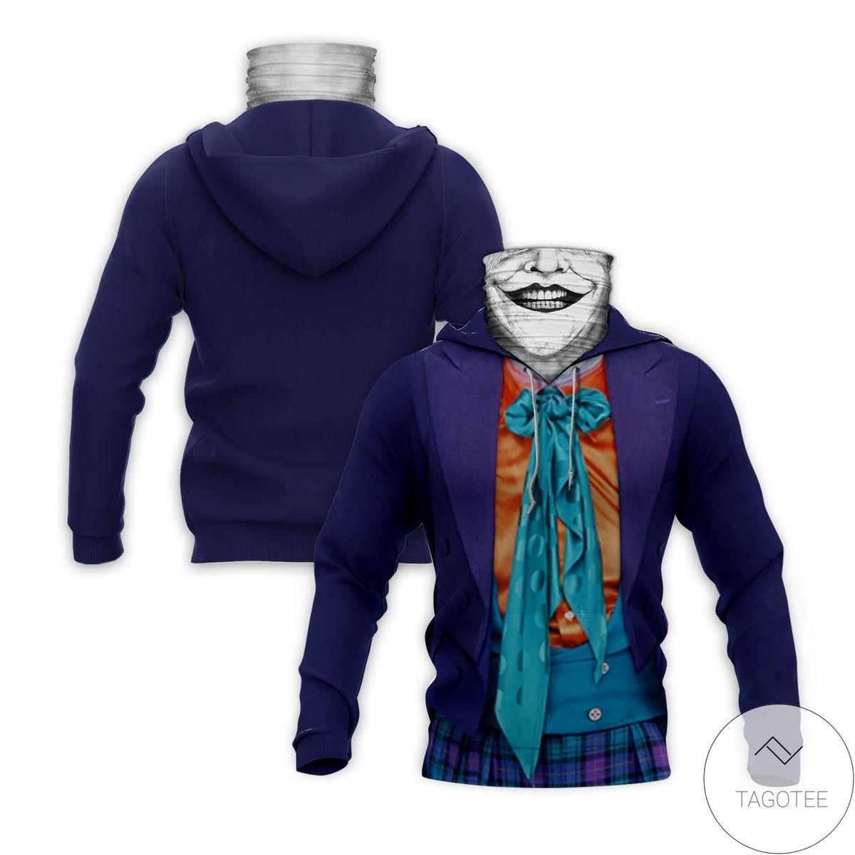 Buy In US Jocker Horror Movie Halloween Mask Hoodie