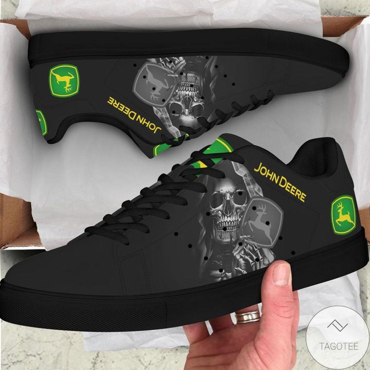 John Deere Black Skull Stan Smith Shoes