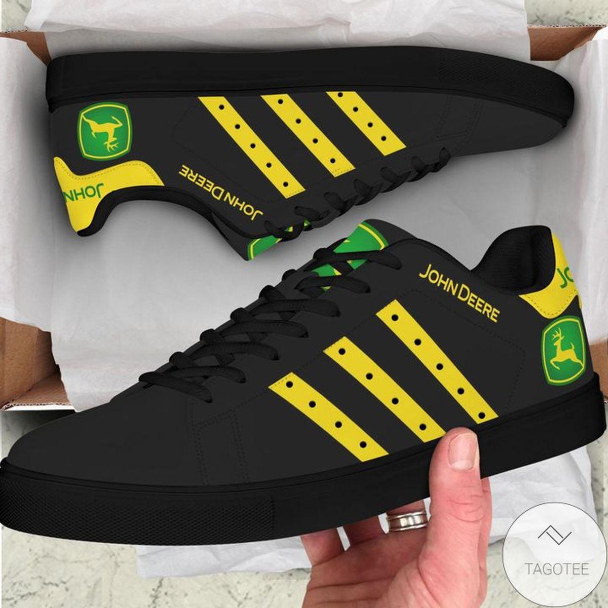 John Deere Black Stan Smith Shoes