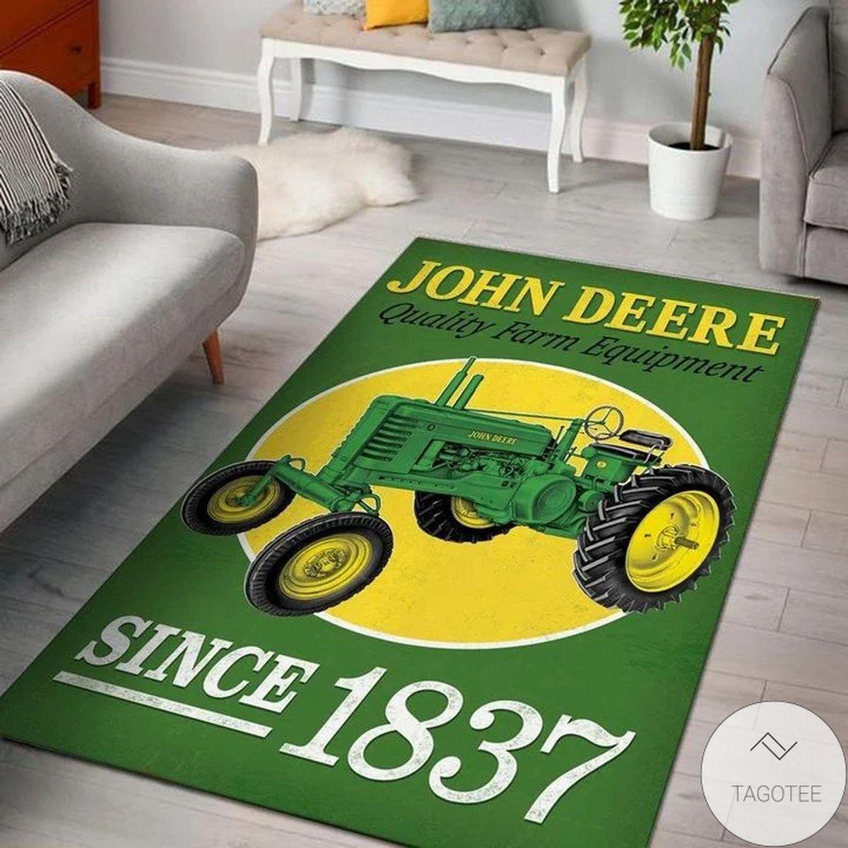 John Deere Quality Farm Equipment Since 1837 3d Rug
