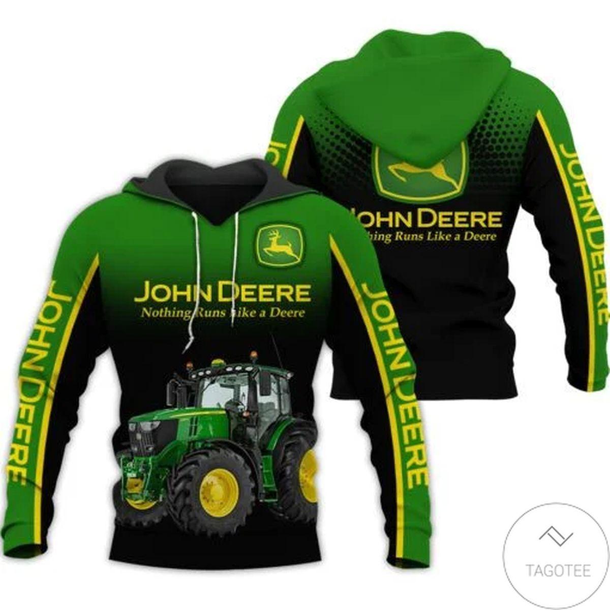 John Deere Tractor 3d Hoodie