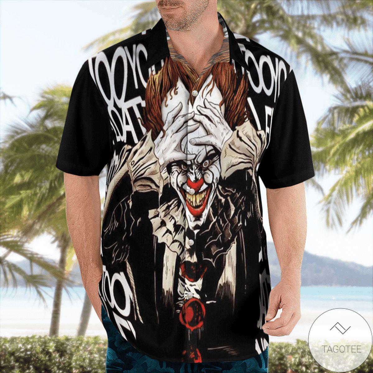 Joker Creepy Face Halloween Hawaiian Shirt