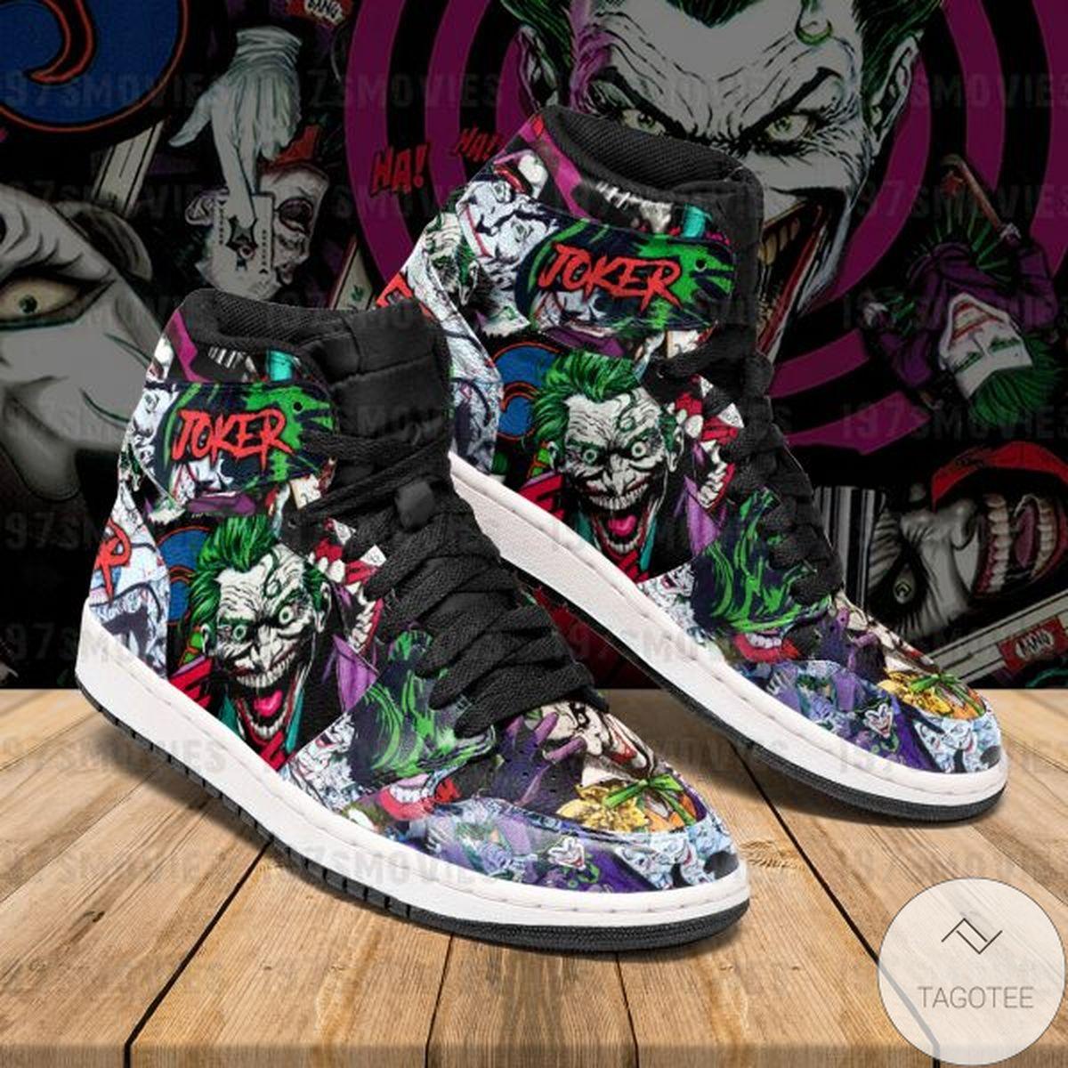 Joker Dc Comic Air Jordan High Top Shoes
