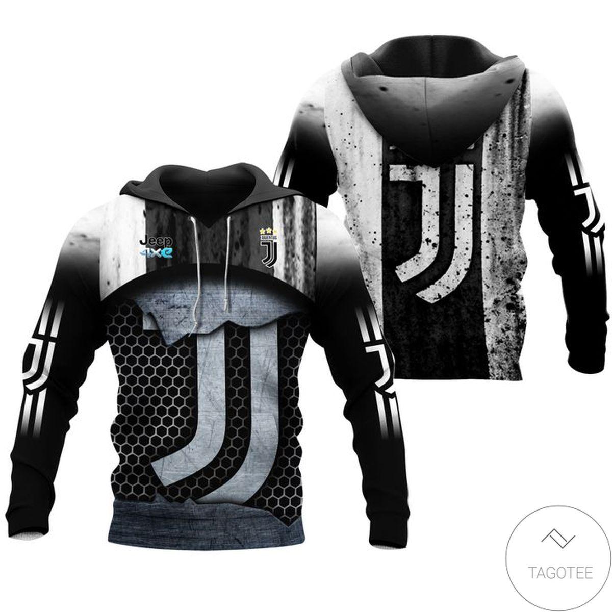 3D Juventus Logo Hoodie