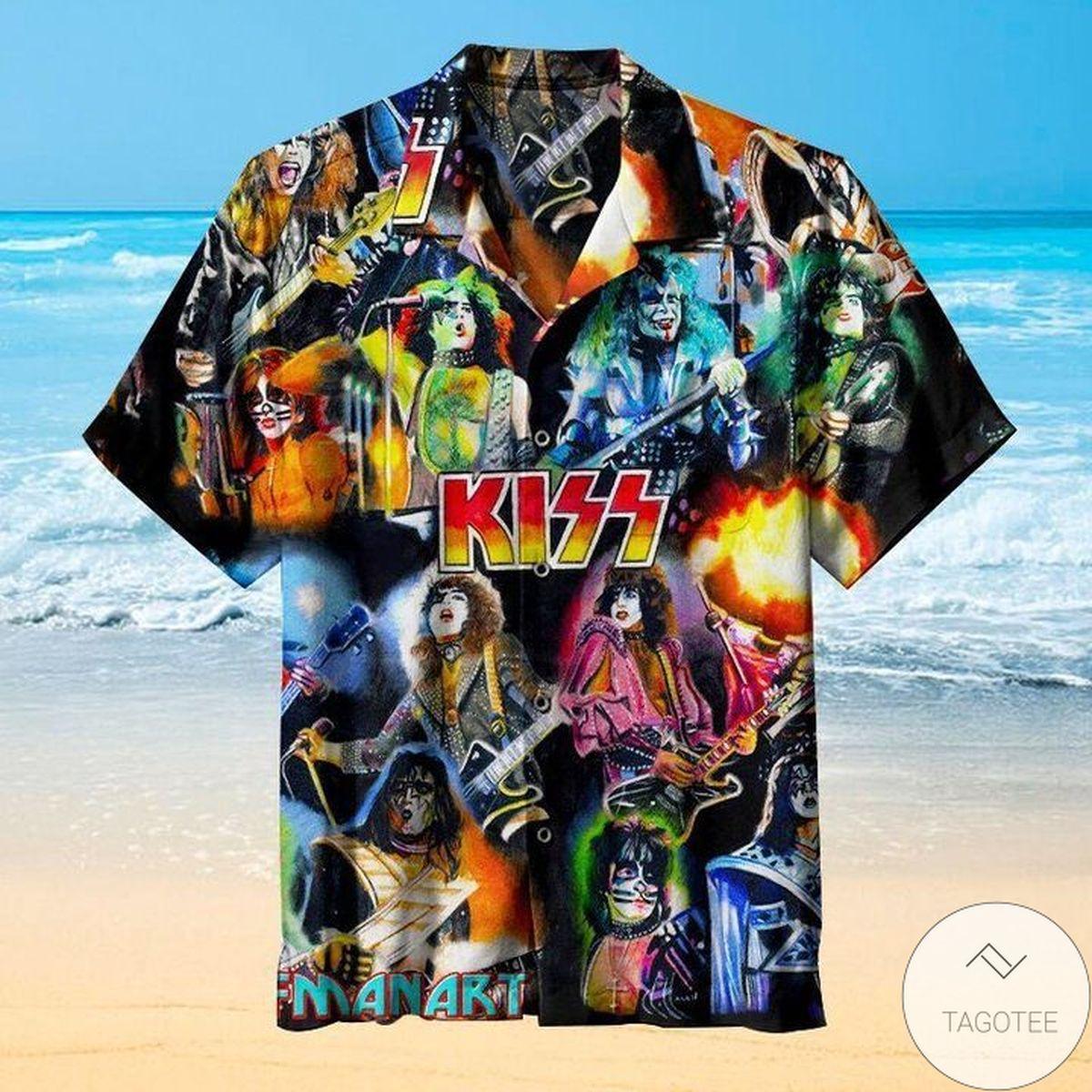 Unisex Kiss Manaki Hawaiian Shirt