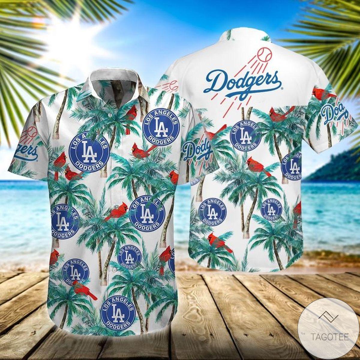 Beautiful La Dodgers Tropical Hawaiian Shirt