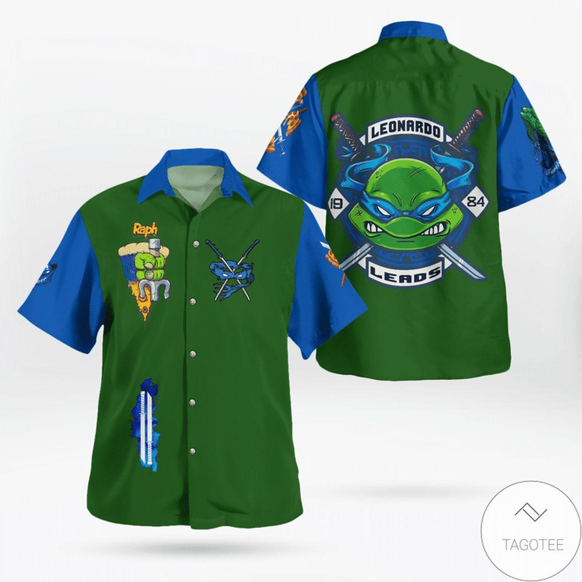 Ships From USA Leonardo TMNT Hawaiian Shirt