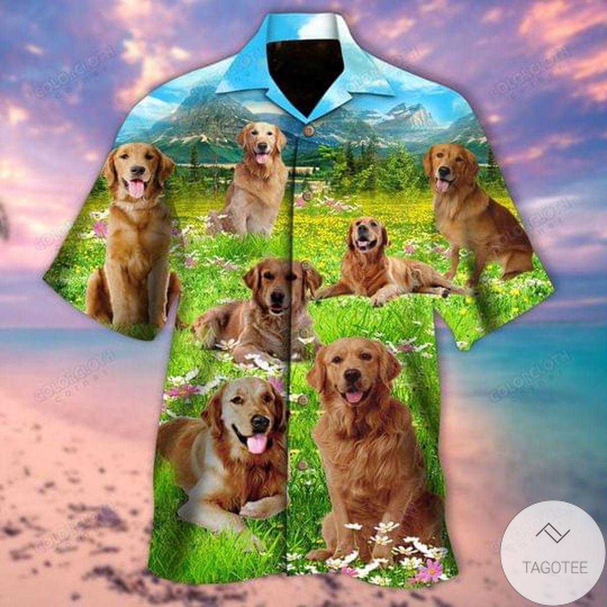 Life Is Better With A Golden Retriever Hawaiian Shirt