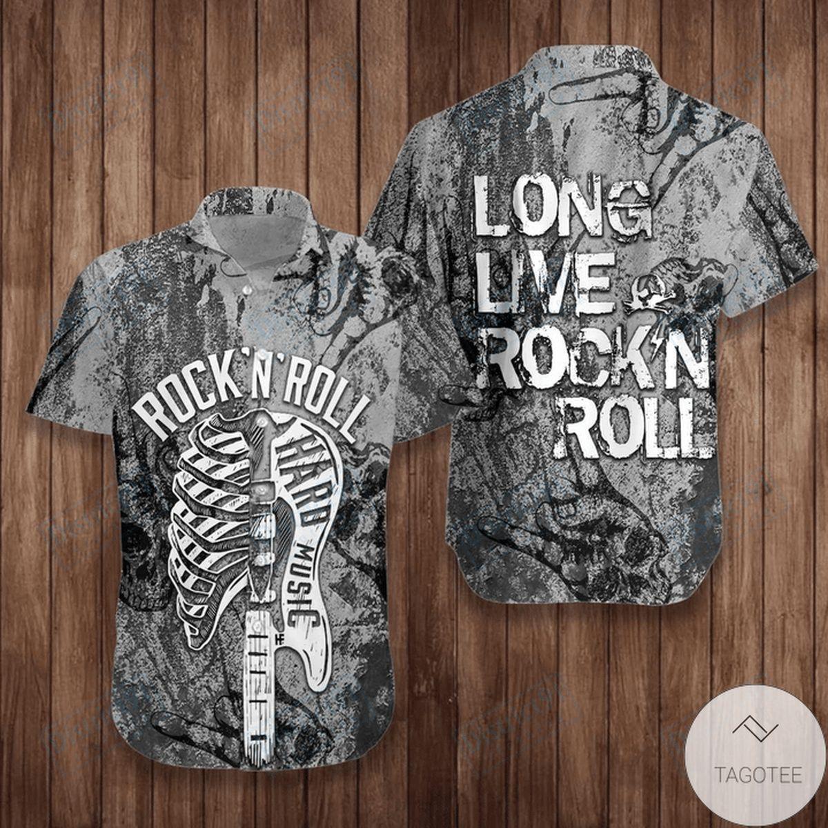 Long Live Rock'n Roll Guitar Hawaiian Shirt