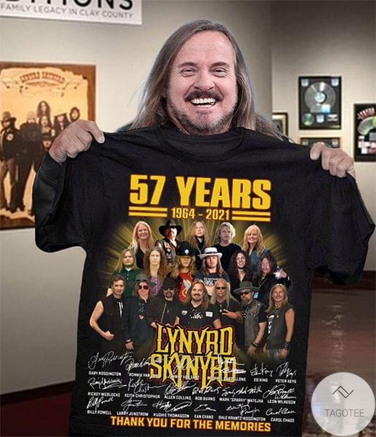 Popular Lynyrd Skynyrd 57 Years Thank You For The Memories Shirt, hoodie, tank top