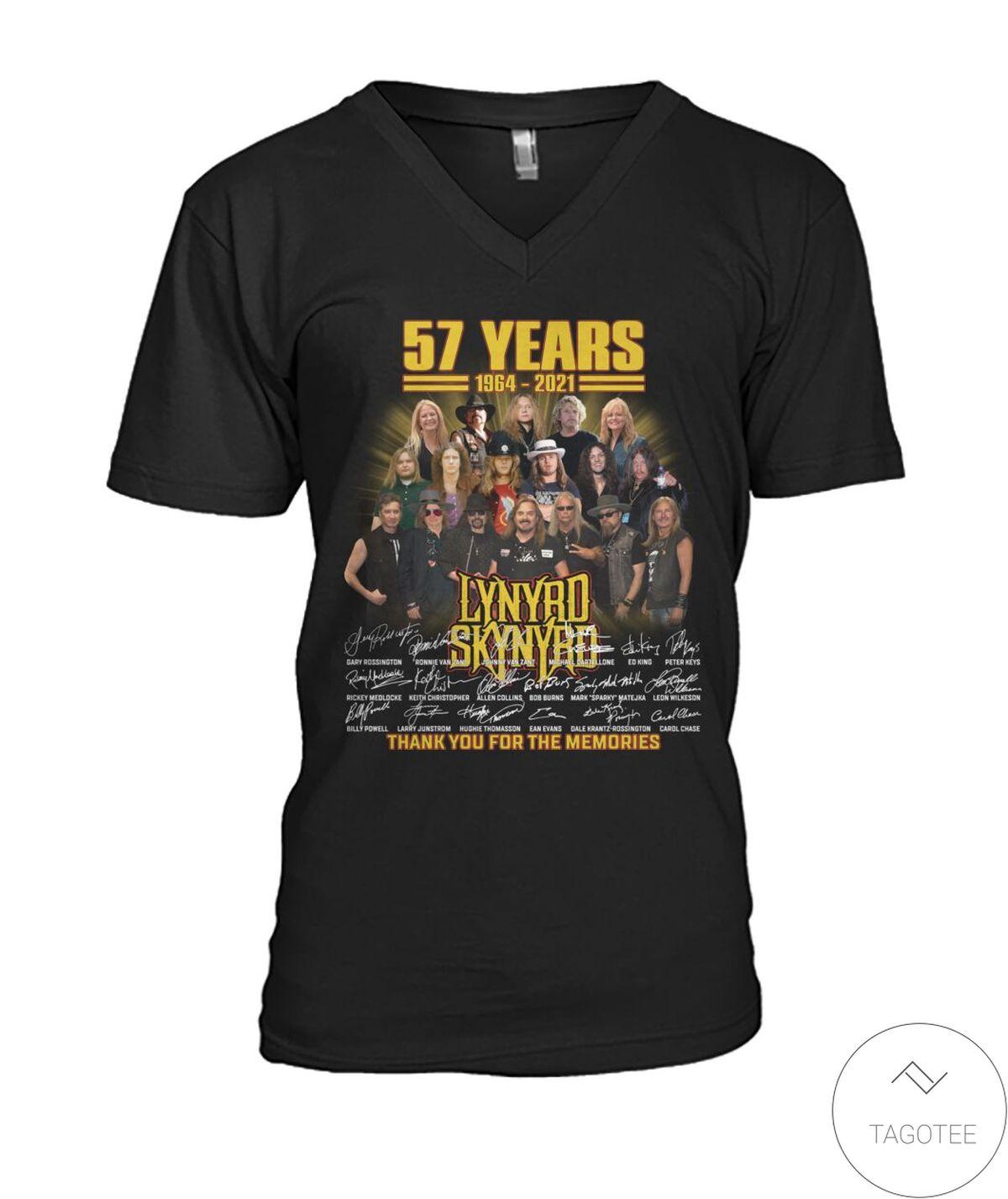 Print On Demand Lynyrd Skynyrd 57 Years Thank You For The Memories Shirt, hoodie, tank top