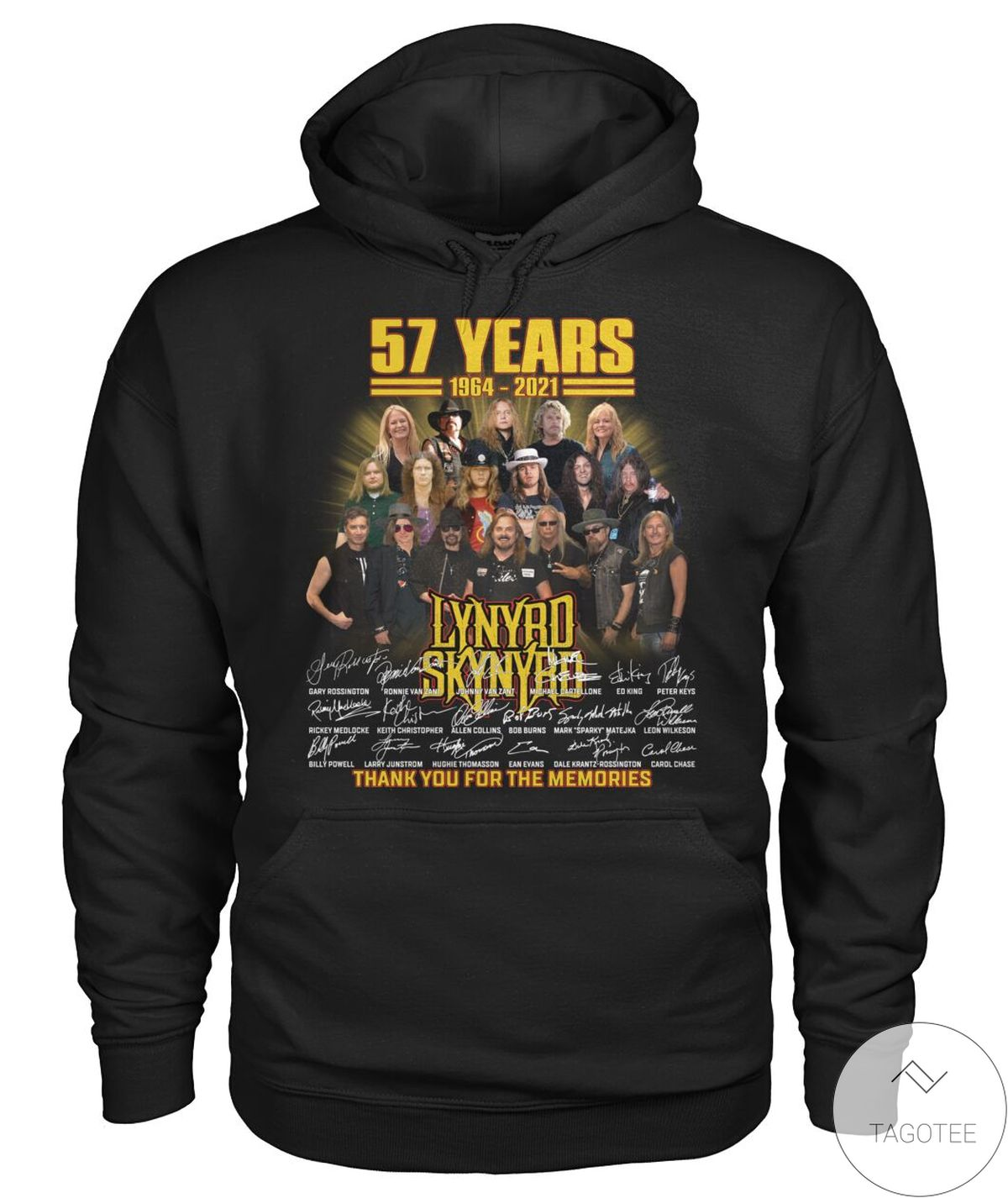 Perfect Lynyrd Skynyrd 57 Years Thank You For The Memories Shirt, hoodie, tank top