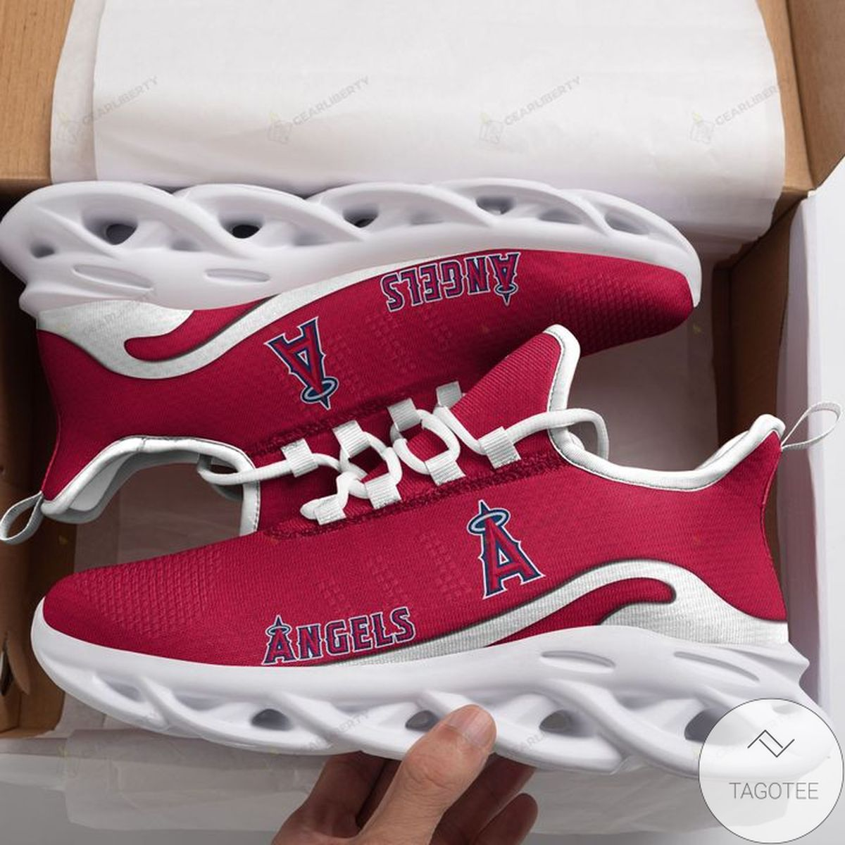 Great artwork! MLB Los Angeles Angels Max Soul Shoes