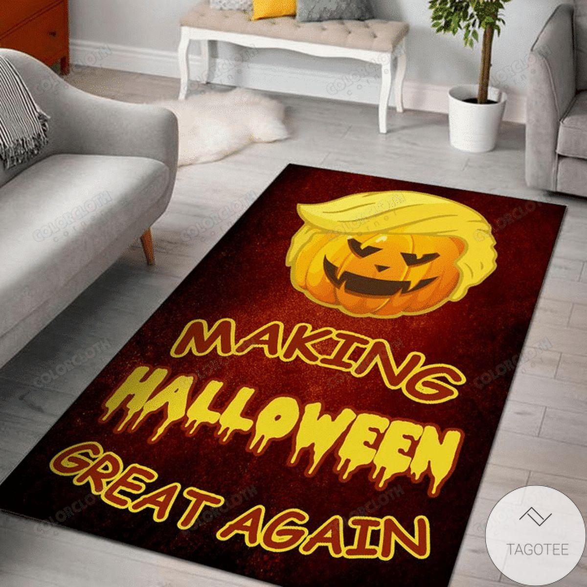 Making Halloween Great Again Rug