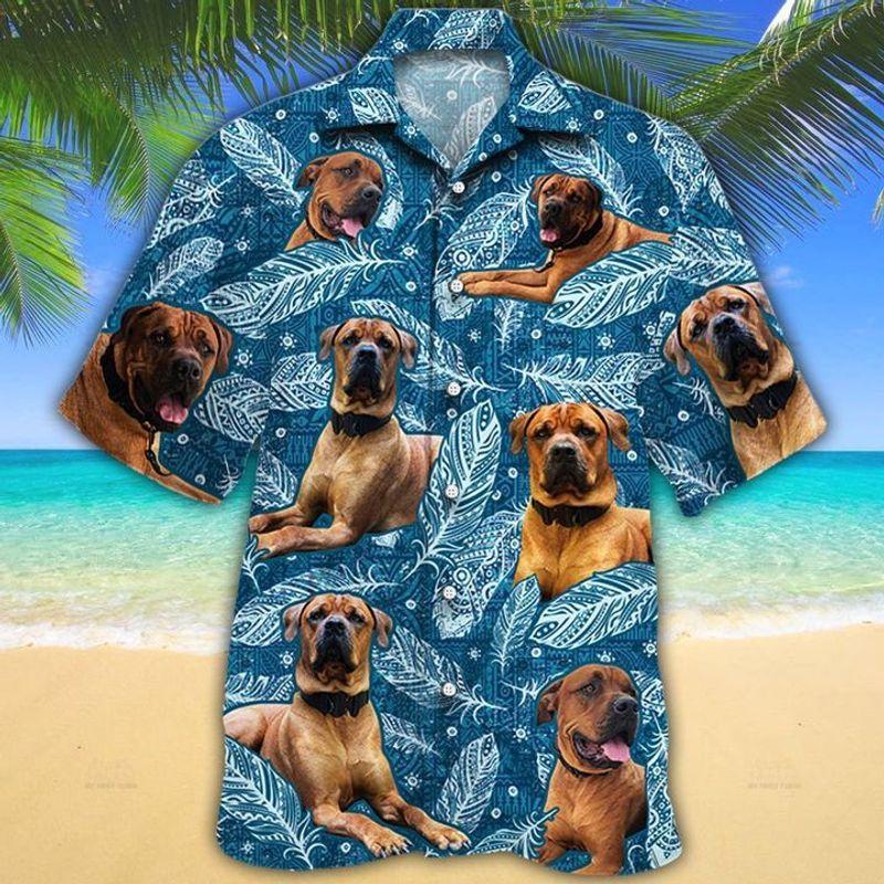 Matt Gillespie Custom Blue Feather Hawaiian Shirt
