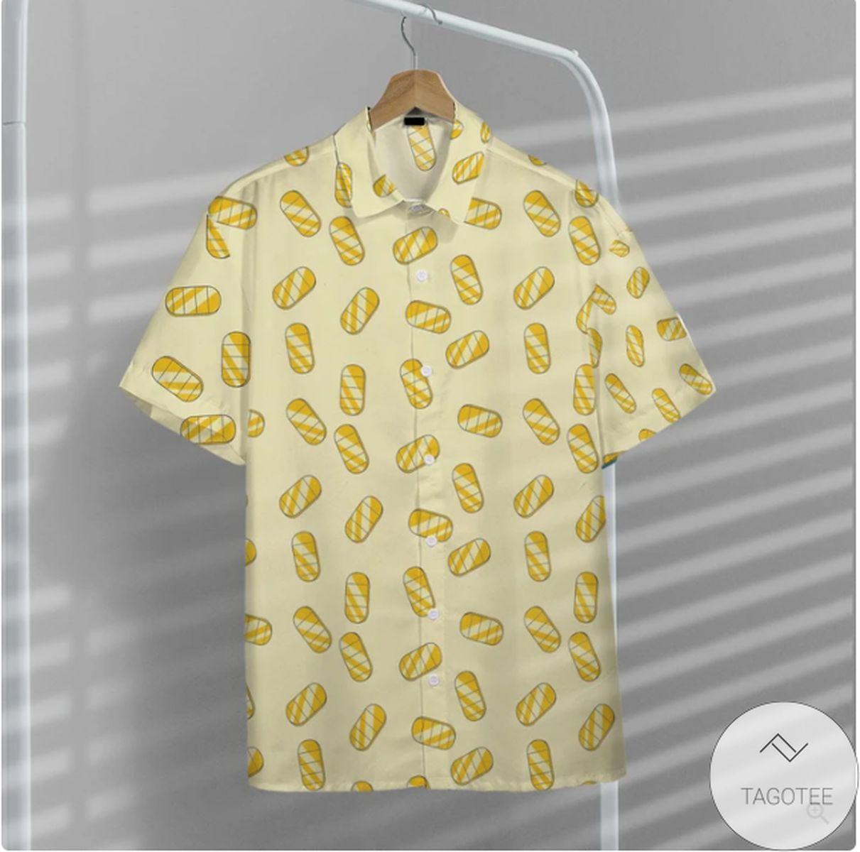 Meowth Gold Coin Pattern Pokemon Hawaiian Shirt