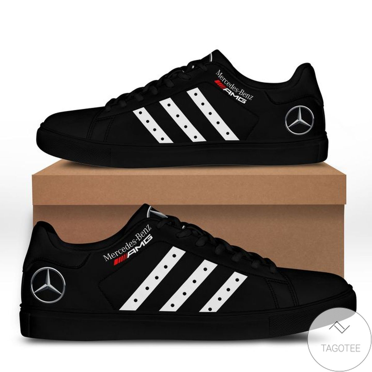 Best Gift Mercedes Amg Black Stan Smith Shoes