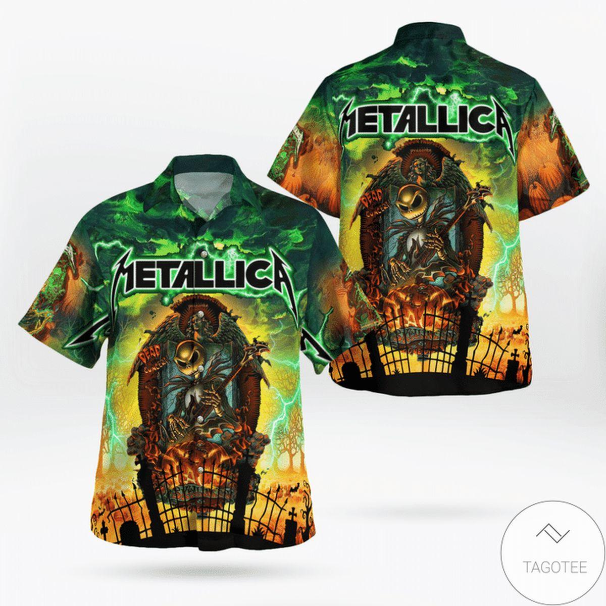 Metallica Jack Skellingt0n Hawaiian Shirt