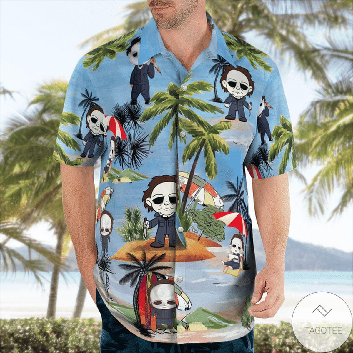 Drop Shipping Michael Myers Beach Summer Vacation Hawaiian Shirt