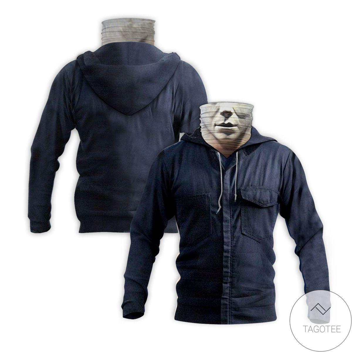 Handmade Michael Myers Horror Movie Halloween Mask Hoodie