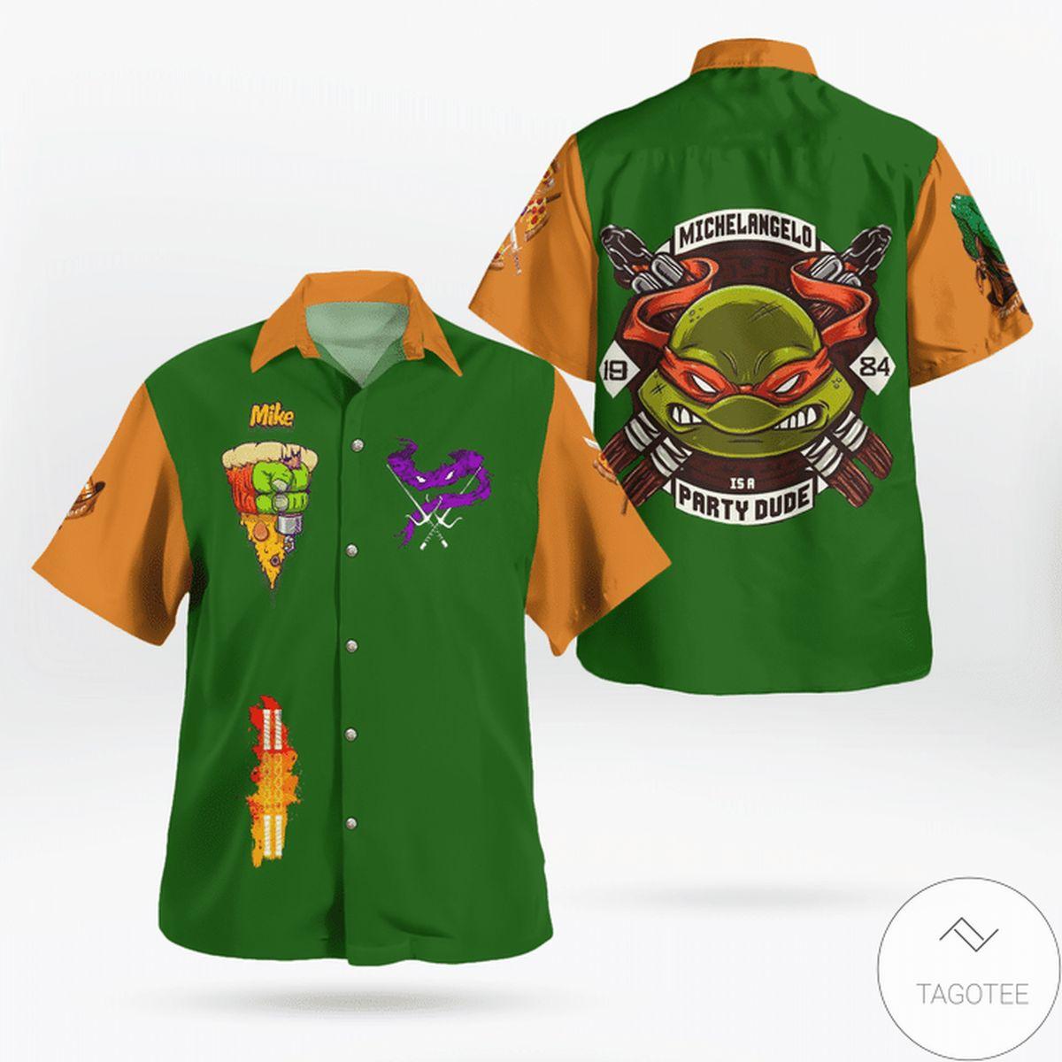 Father's Day Gift Michelangelo TMNT Hawaiian Shirt