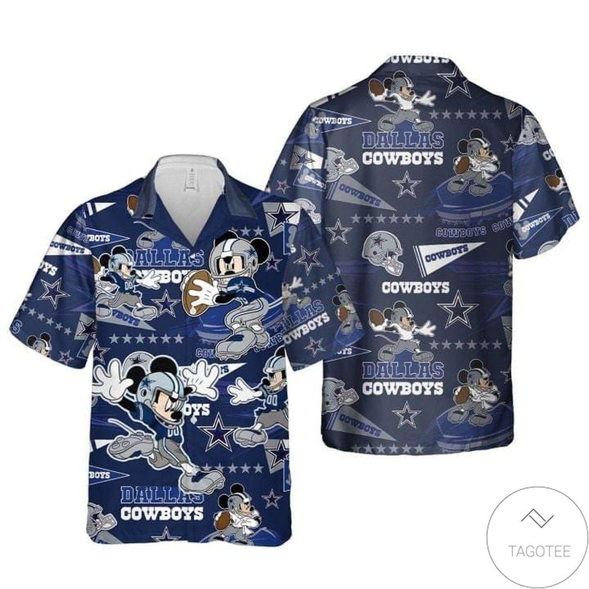 Buy In US Mickey Mouse Dallas Cowboy Rugby Hawaiian Shirt