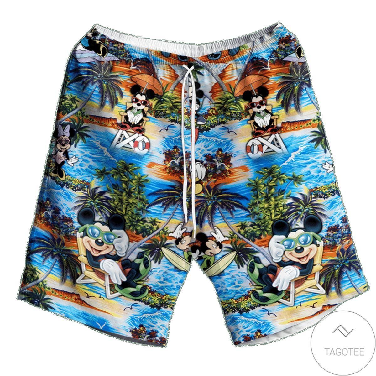 Mickey Mouse Happy Summer Hawaiian Short