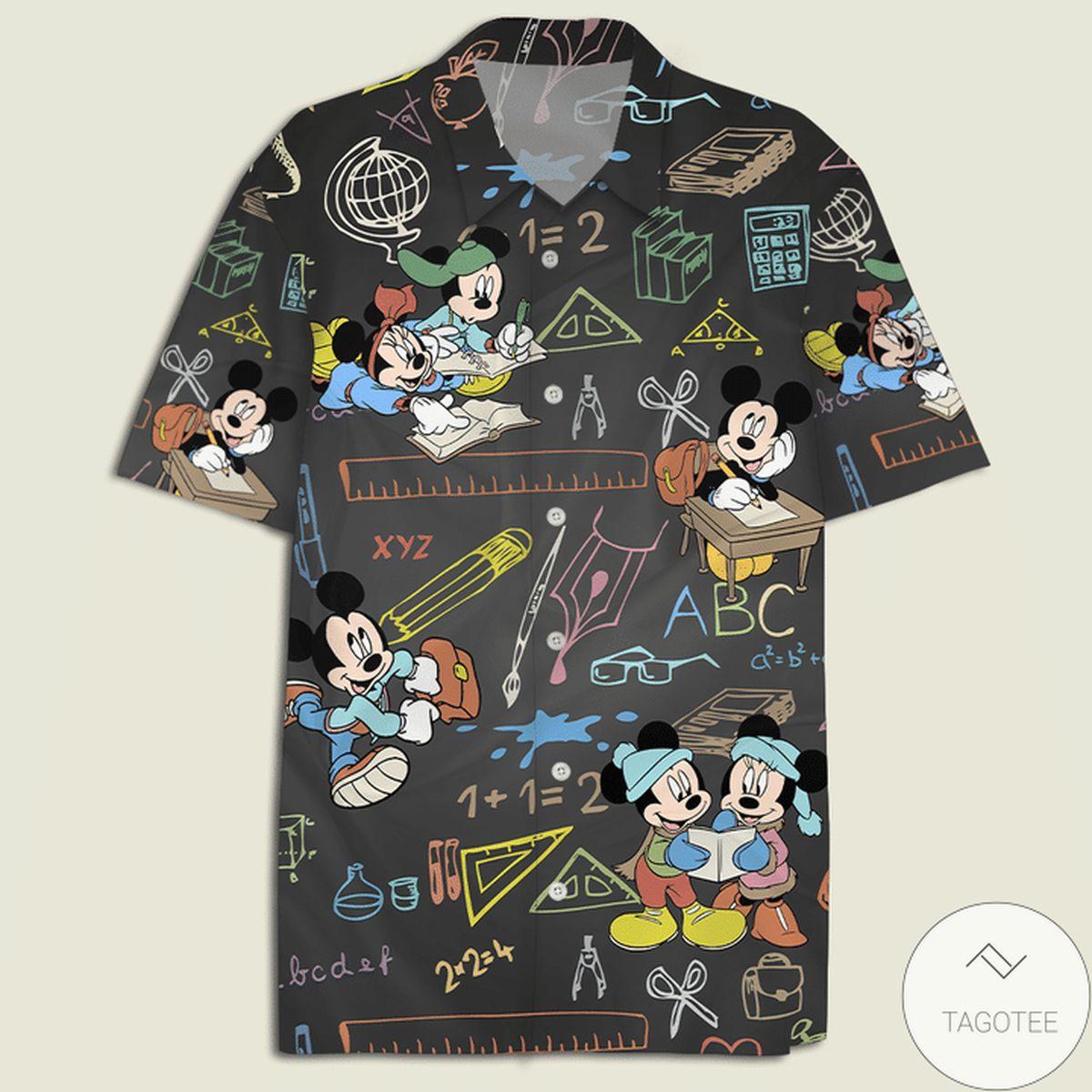 Mickey Mouse Multicolor Chalkboard Hawaiian Shirt