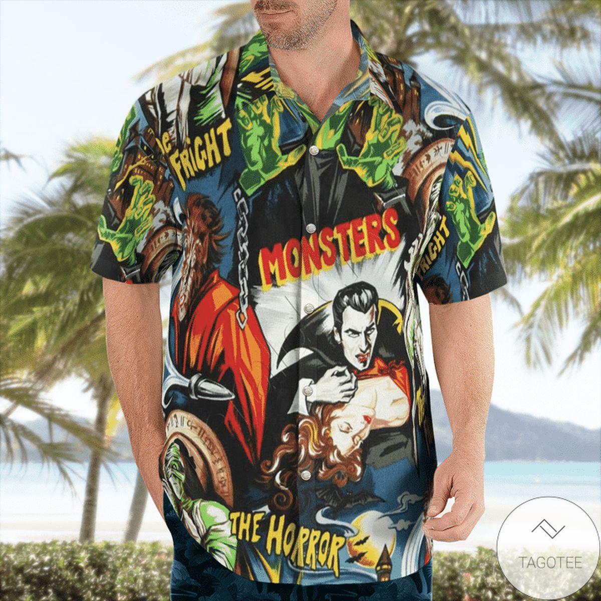Monster The Horror Halloween Hawaiian Shirt