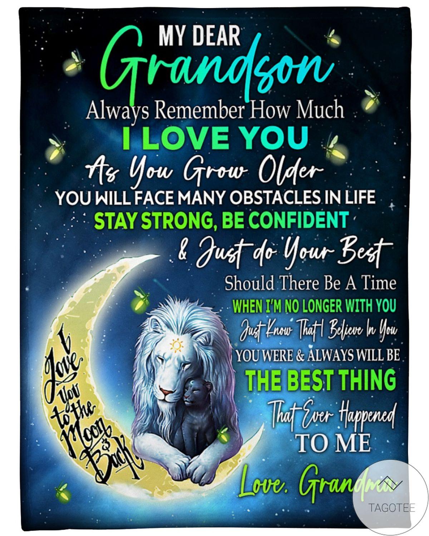Very Good Quality My Dear Grandson Love Grandma Blanket